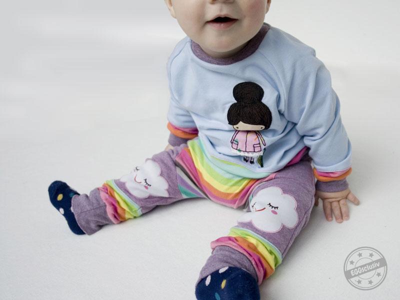 EGGsclusiv: Shirt MiniMars und Hose MiniMoon Freebook von Aefflyns to Go mit Applikation Herbstmädchen von Missichen