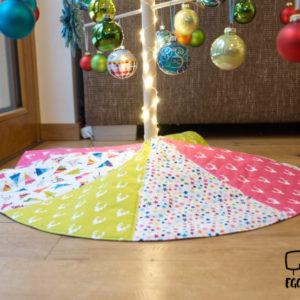 EGGsclusiv: Weihnachtsbaumdecke nähen, Patchworkdecke, Holzweihnachtsbaum