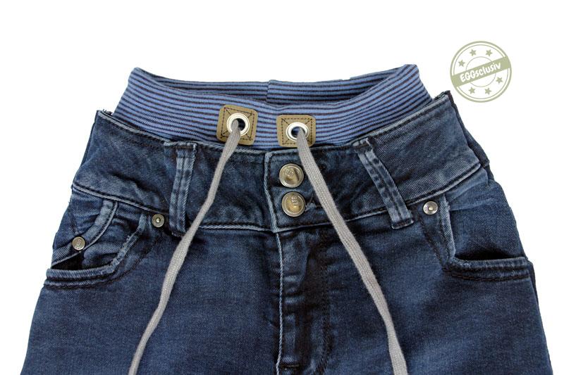 EGGsclusiv: Denim Luck*ees - NipNaps.ch als Jeans-Upcycling - Detail Bund