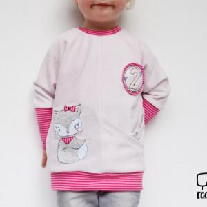 EGGsclusiv: Geburtstagspulli nähen mit Applikation Katze Lila von Ritterkind, Schnittmuster Pinio von Firlefanz