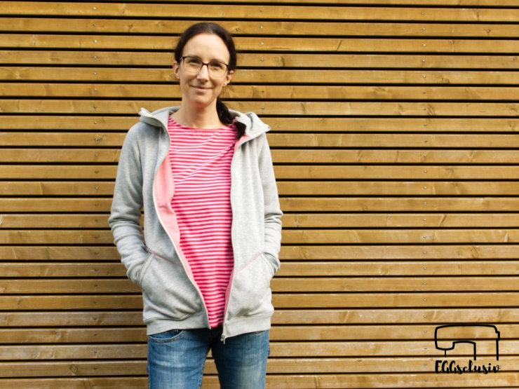 EGGsclusiv: Jacke Arja von Näähglück und Basic-Shirt Weekday aus der Ottobre 5/2017 nähen für Frauen