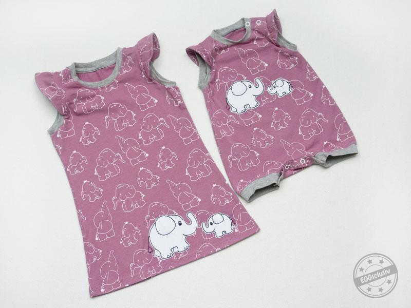 Elefantenset - Quatschkopf Kleid und Jolly Jumper - EGGsclusiv
