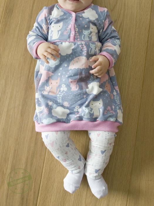 EGGsclusiv: Knopftunika - Klimperklein als Ballonkleid mit Leggings Nähen mit Jersey - Babyleicht