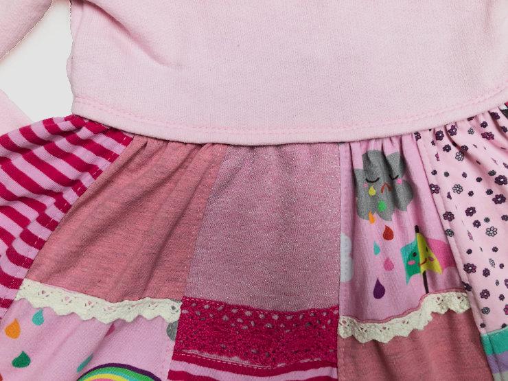EGGsclusiv: Lottis Drehkleid von Mitosa Kreativ als Patchwork-Kleid aus Stoffresten nähen