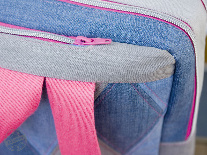 EGGsclusiv: #machdeinding2018 Rucksack nähen - Initiative Handarbeit mit cherrypicking, Freebook, Jeans pink