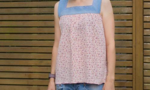EGGsclusiv: Mädesüß Damen von Firlefanz aus Jeans-Upcycling und Musselin