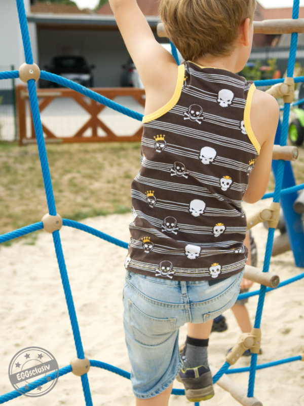 EGGsclusiv: Shirt nähen, MiniSun - Aefflyns to Go, Schnittmuster Freebook, Piraten