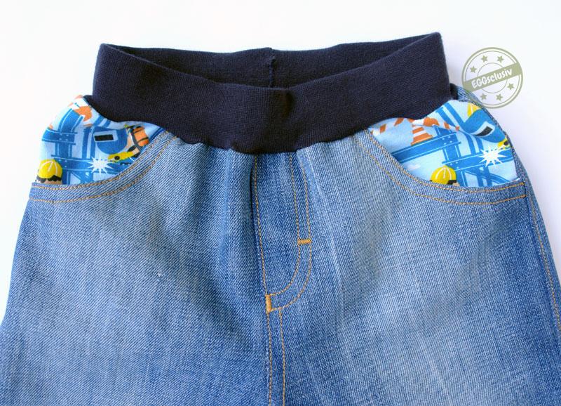 EGGsclusiv: Mottis Jeans von Made vor Motti nähen für Kinder als Upcycling