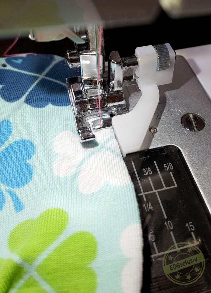 EGGsclusiv: Nähtipp knappkantig Absteppen mit der Nähmaschine