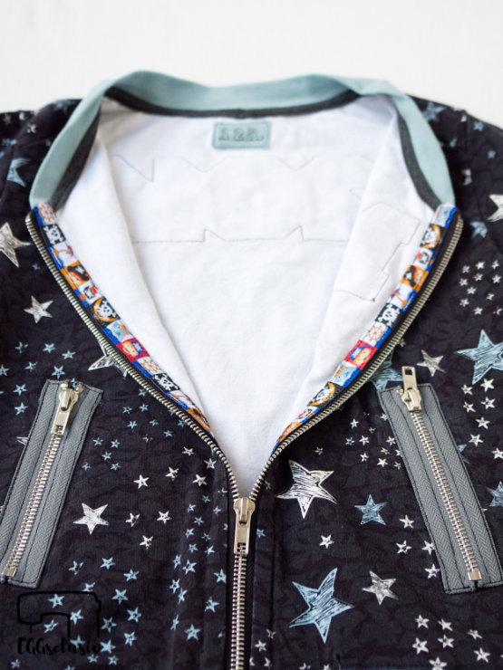 EGGsclusiv: Collegejacke nähen, Odd Zippers - Ottobre 6/2015