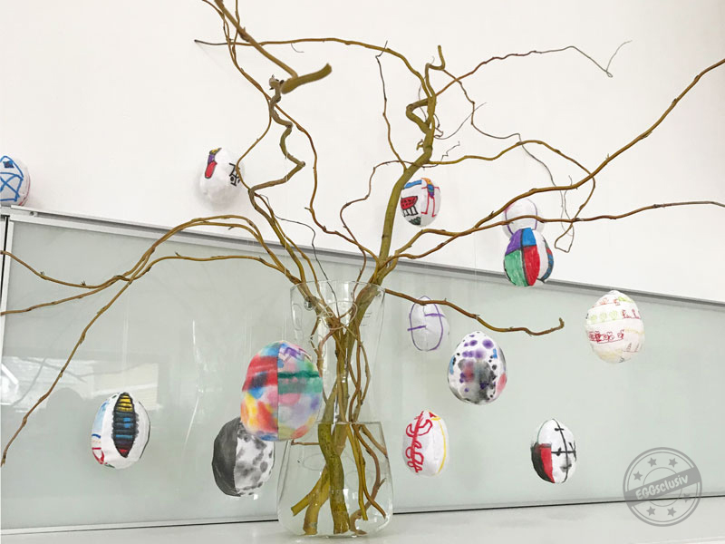 EGGsclusiv: Ostereier nähen und bemalen mit Kindern, retro mama