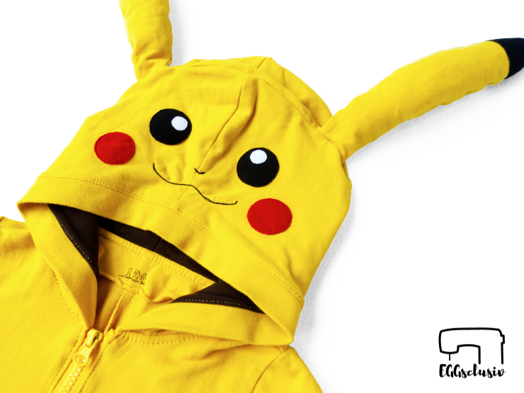 EGGsclusiv: Pikachu Jumsuit , Overall nähen für Kinder