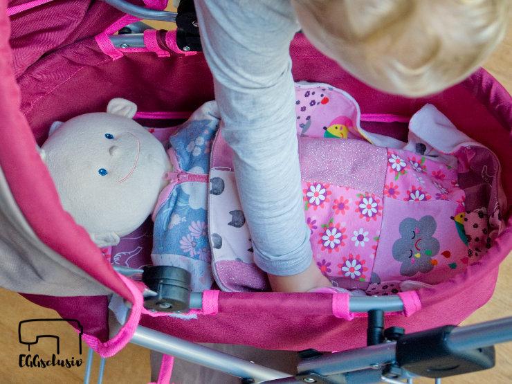 EGGsclusiv: Puppenbettwäsche aus Stoffresten nähen, Puppentrage Ida - Zapperlott