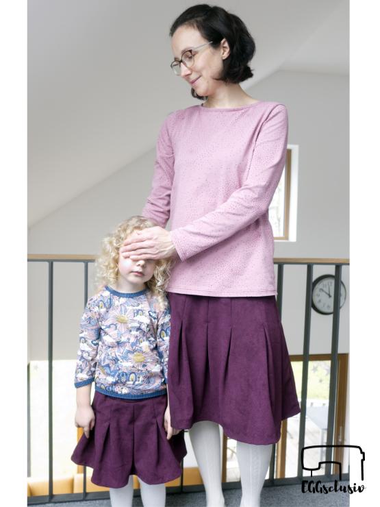 EGGsclusiv: Rock Rapunzel, Shirt Wild Grrr, Shirt Weekday, Mama-Tochter-Partneroutfit