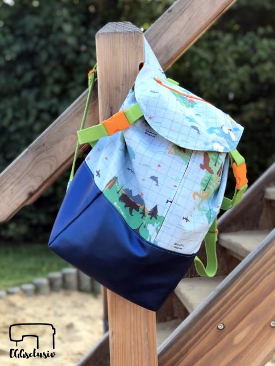 EGGsclusiv: Rucksack Isah - DIY Eule nähen für Kinder