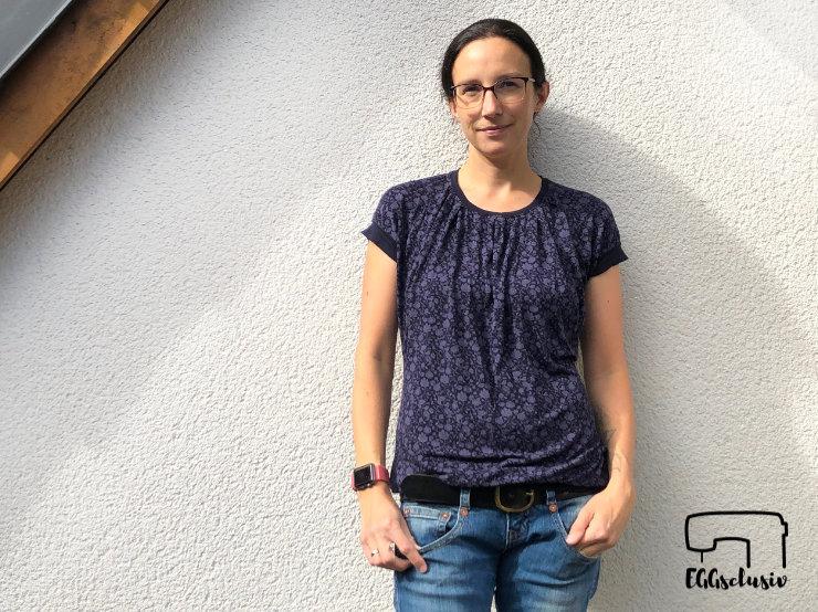 Shirt nähen für Frauen, Santa Barbara - Pech & Schwefel, dunkelblau