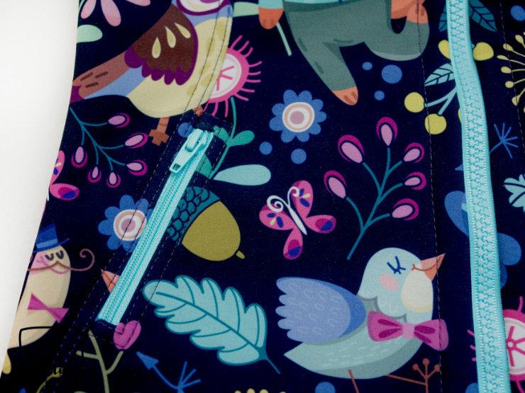 EGGsclusiv: Schnabelina Softshelljacke nach dem Freebook nähen als Frühlingsjacke für ein Mädchen nähen, Detail Taschen