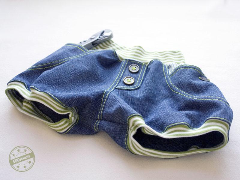 EGGsclusiv: kurze Pumphose nähen, Shorty Knirps - Ankerknirps, Jeans