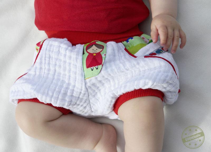 EGGsclusiv: kurze Pumphose nähen, Shorty Knirps - Ankerknirps, Musselin, Baby