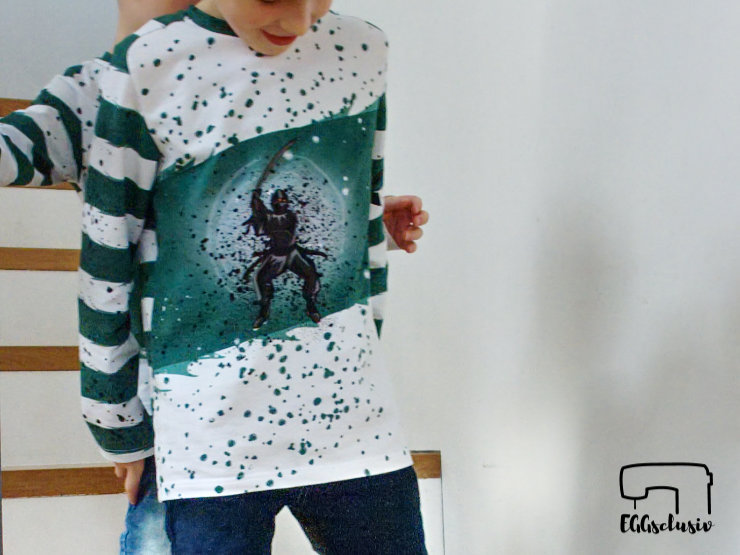 EGGsclusiv: Shirt nähen Schnittmuster Steampunk - Ottobre 6/2015, Ninja-Panel Mamasliebchen