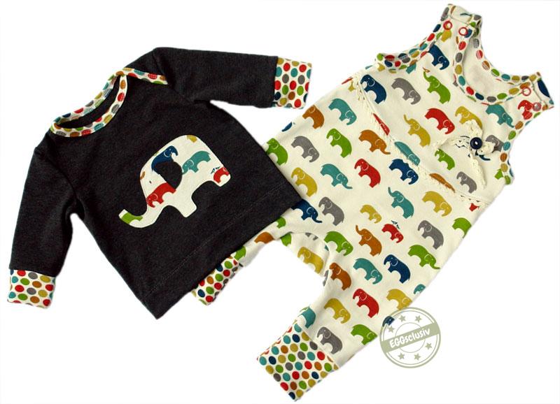 EGGsclusiv: Strampler ohne Fuß und schmales Shirt - Nähen mit Jersey - babyleicht! von Klimperklein nähen für Baby