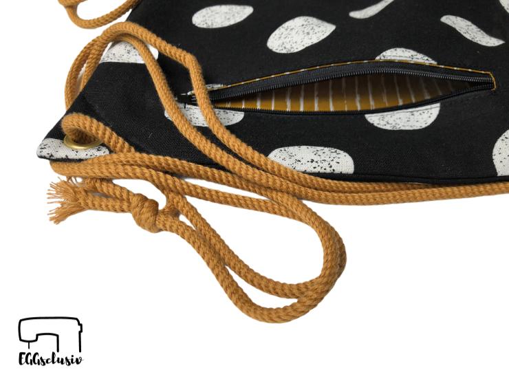 EGGsclusiv: Turnbeutel Josie - Frau Fadenschein nähen mit Reißverschlusstasche