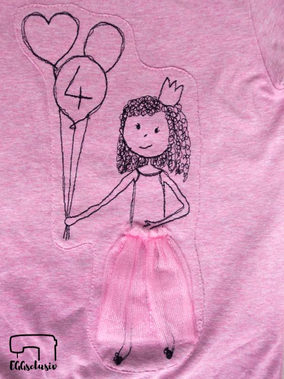 EGGsclusiv: Jerseyshirt mit Applikation nähmalen für Mädchen
