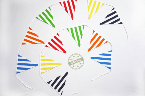 EGGsclusiv: Wimpelkette für KiTa-Schiff nähen aus IKEA Stoff