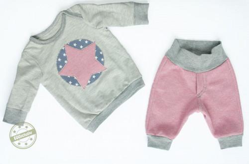 """EGGsclusiv: Babyset nähen, schmales Shirt und coole Hose """"Nähen mit Jersey - Babyleicht"""" von Klimperklein"""